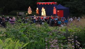 Outdoor theatre at Ness Botanic Gardens