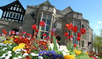 Port Sunlight Museum with flowers